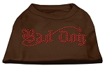 Bad Dog Rhinestone Shirts Brown XS
